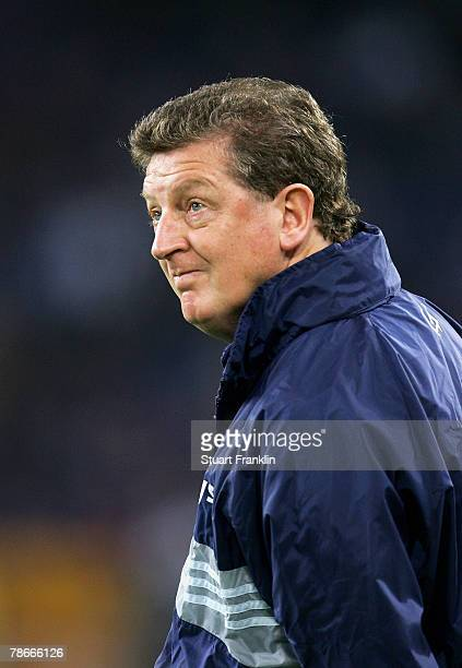 Roy Hodgson, trainer of Viking Stavanger looks on during the UEFA Cup Group A match between Hamburger SV and Viking Stavanger at the AOL Arena on...