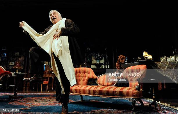 Roy Hudd as Henry Ormanroyd and Rosemary Ashe as Lottie Grady in the production of JBPriestley's 'When We Are Married at the Garriick Theatre in...