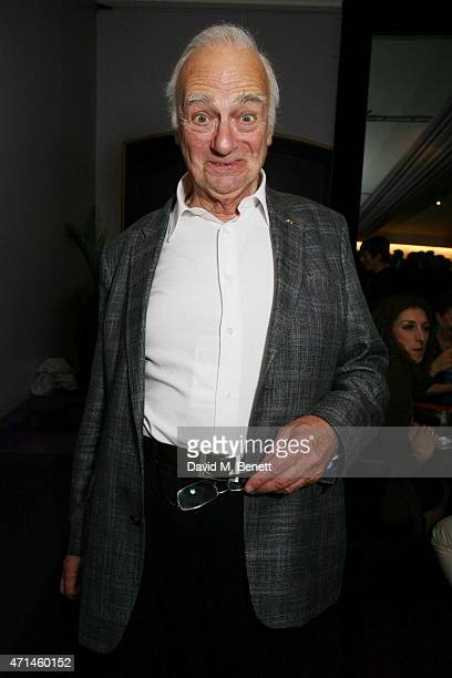 Roy Hudd attends the Follies In Concert gala performance in celebration of Stephen Sondheim's 85th birthday year at Royal Albert Hall on April 28...