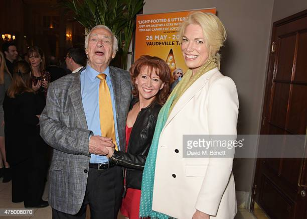 Roy Hudd Bonnie Langford and Hannah Waddingham attend an after party following the press night performance of Just Jim Dale at The Waldorf Hilton...