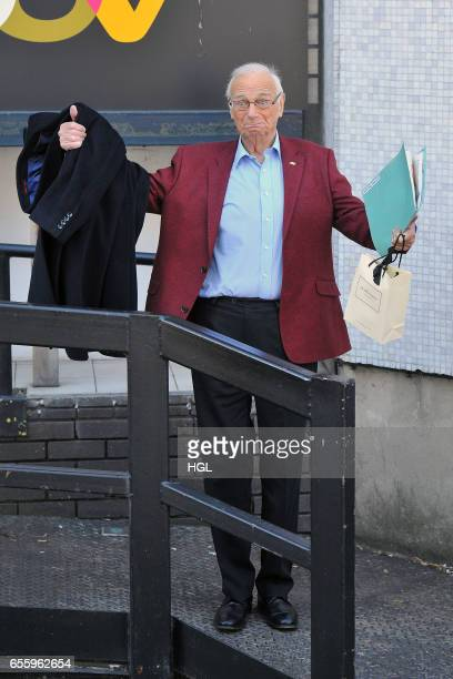 Roy Hudd seen at the ITV Studios on March 21 2017 in London England