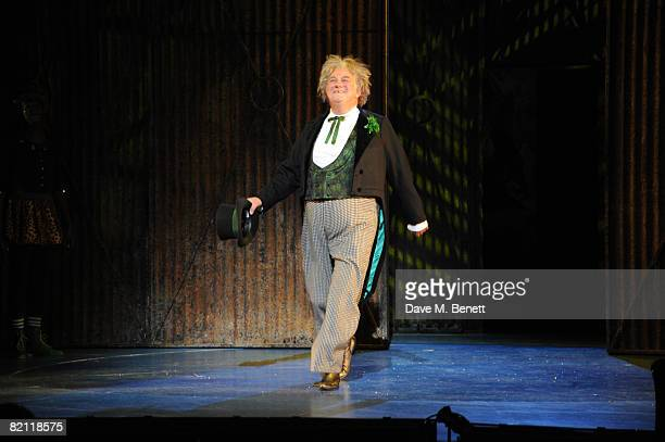 Roy Hudd takes a curtain call on the opening night of The Wizard of Oz at the Royal Festival Hall on July 29 2008 in London England