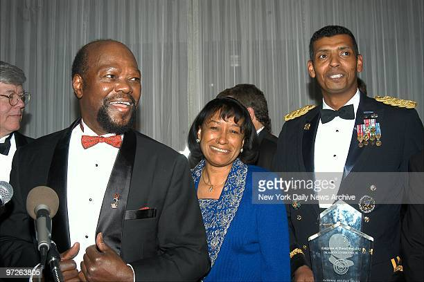 Roy Innis National Chairman for the Congress of Racial Equality joins honorees Janice Rogers Brown California Supreme Court Justice and Brig Gen...