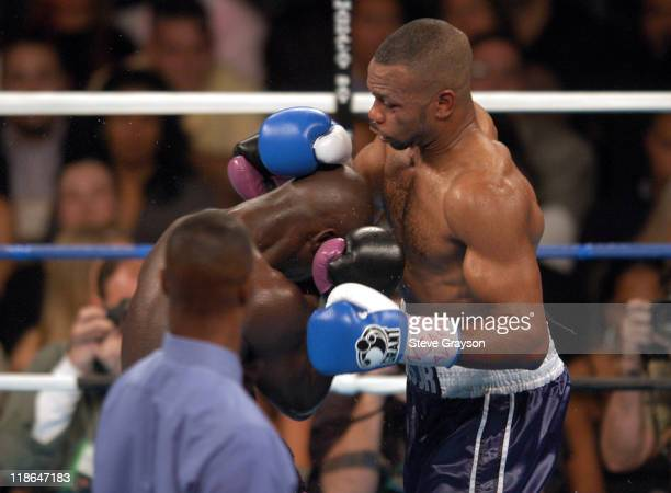 Roy Jones Jr and Antonio Tarver in action during their WBC Light Heavyweight Title bout. Jones won on a split desicison Claim The WBC Light...