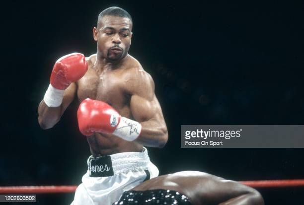 Roy Jones Jr. And James Toney fight for the IBF super middleweight titles on November 18, 1994 at the MGM Grand Garden Arena in Las Vegas, Nevada....