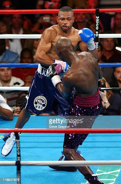 Roy Jones Jr hits Antonio Tarver during their WBC Light Heavyweight Title bout Jones won on a split desicison Claim The WBC Light Heavyweight Title