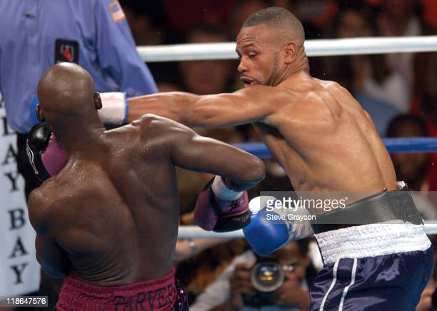 Roy Jones Jr hits Antonio Tarver with a shot to the head during their WBC Light Heavyweight Title bout. Jones won on a split desicison Claim The WBC...