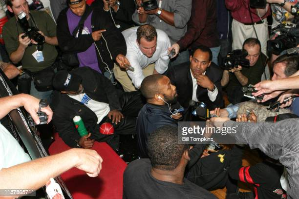 Roy Jones, Jr. Speaks to the media at King's Gym, in New York City in preparation for his light heavyweight fight with Joe Calzaghe at Madison Square...