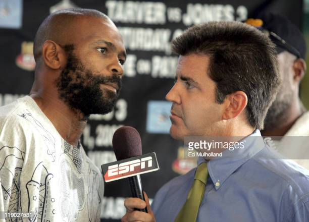 Roy Jones Jr. Weighs in for his third fight against Antonio Tarver at the Florida Aquarium in Tampa, Florida on September 30, 2005. The two will meet...