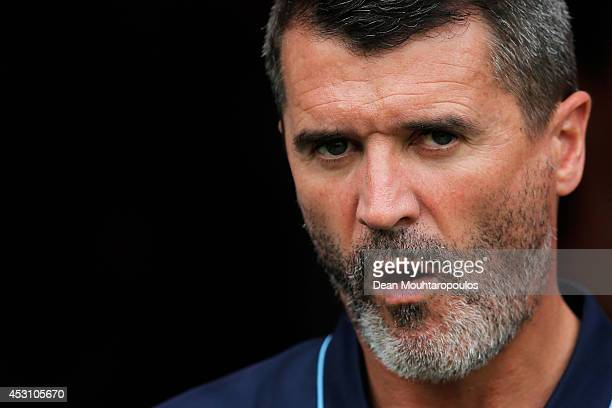 Roy Keane, Assistant manager of Aston Villa looks on during the pre season friendly match between FC Groningen and Aston Villa held at the Euroborg...