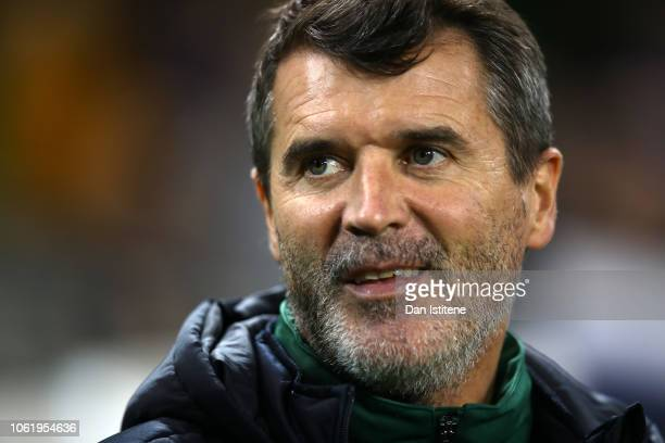 Roy Keane, Assistant Manager of Republic of Ireland looks on prior to the International Friendly match between Republic of Ireland and Northern...