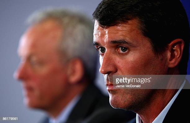 Roy Keane is unveiled as the new Ipswich Town manager at Portman Road on April 23 2009 in Ipswich England