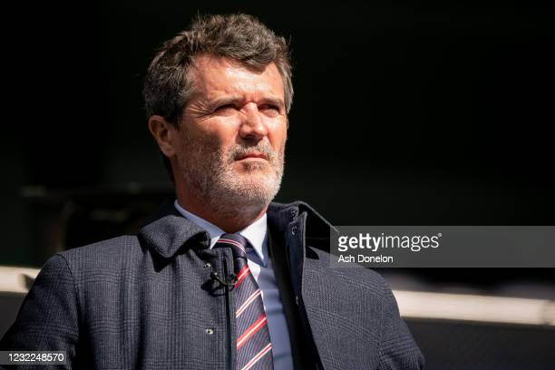 Roy Keane looks on prior to the Premier League match between Tottenham Hotspur and Manchester United at Tottenham Hotspur Stadium on April 11, 2021...