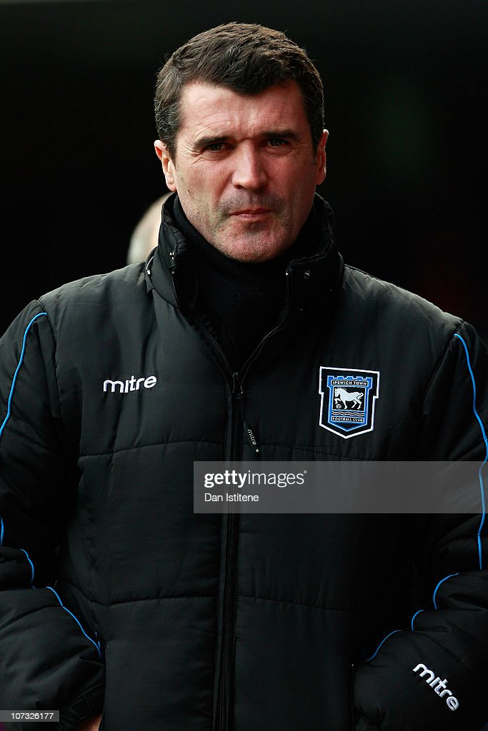 Roy Keane manager of Ipswich looks on during the npower Championship match between Ipswich Town and Swansea City at Portman Road on December 4, 2010 in Ipswich, England.