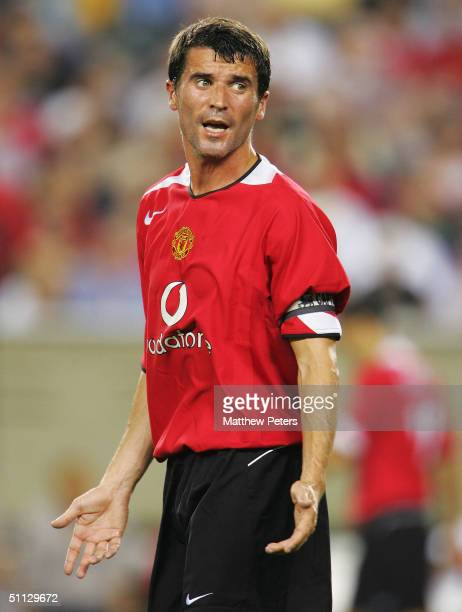 Roy Keane of Manchester United in action during the Champions World Series pre-season friendly match against Celtic, at Lincoln Financial Field,on...