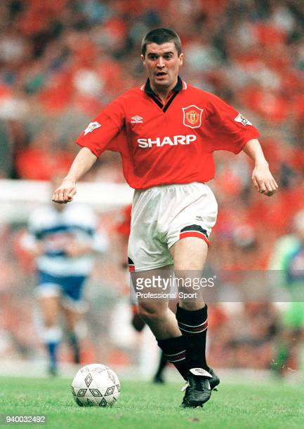 Roy Keane of Manchester United in action during the FA Carling Premiership match between Manchester United and Queens Park Rangers at Old Trafford on...
