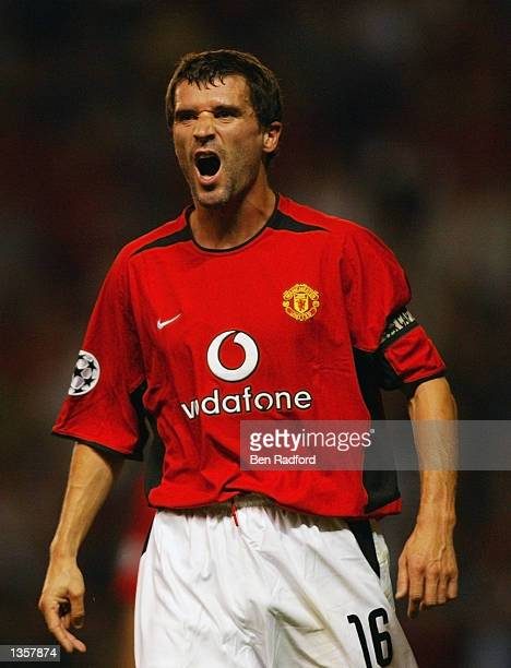 Roy Keane of Manchester United in action during the UEFA Champions League Qualifier Second Leg match between Manchester United and Zalaegerszeg held...