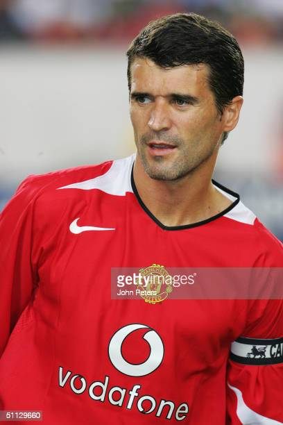 Roy Keane of Manchester United lines up ahead of the Champions World Series pre-season friendly match against Celtic, at Lincoln Financial Field,on...