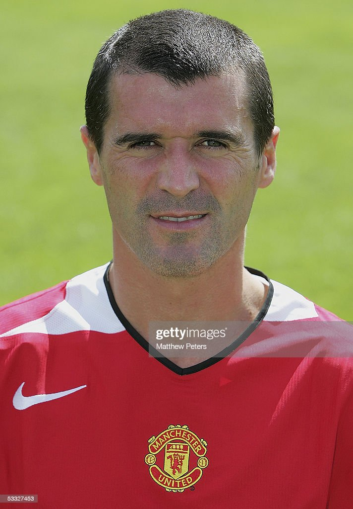Roy Keane of Manchester United poses during the annual club photocall at Carrington Training Ground on 5 August 2005 in Manchester, England.