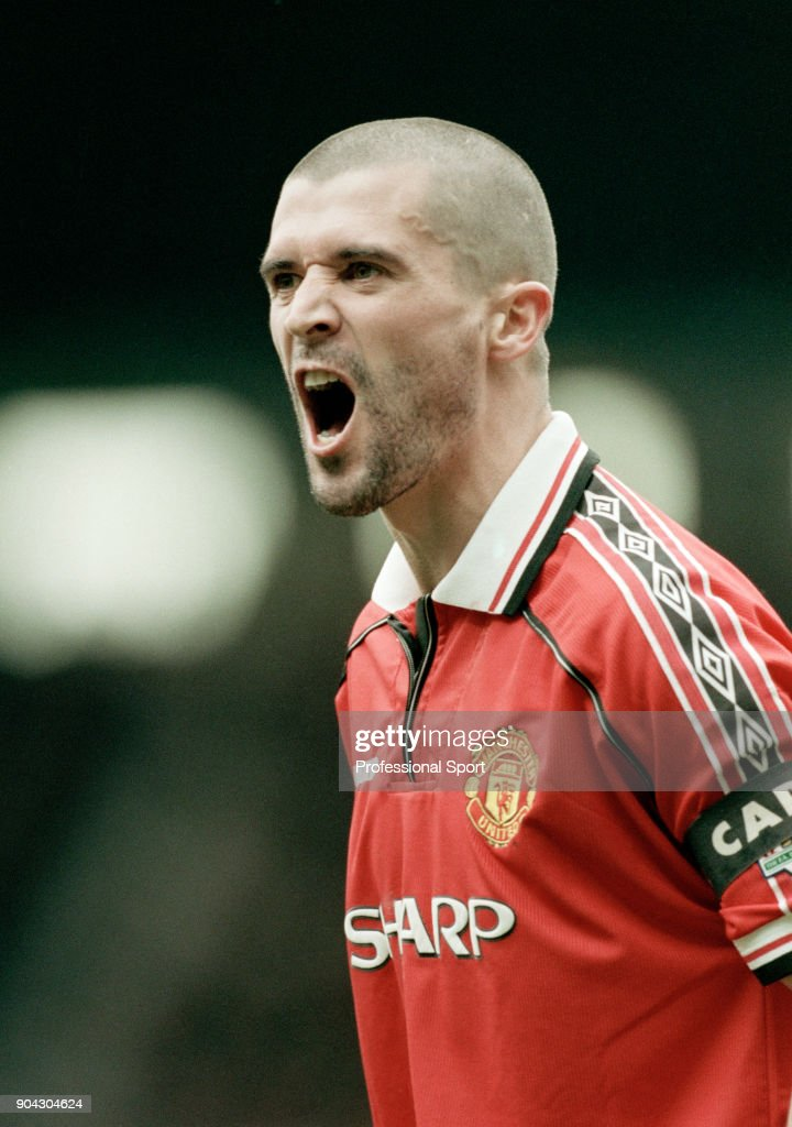 Roy Keane Of Manchester United Shouting During The Fa Carling Premiership Match Between Manchester United And