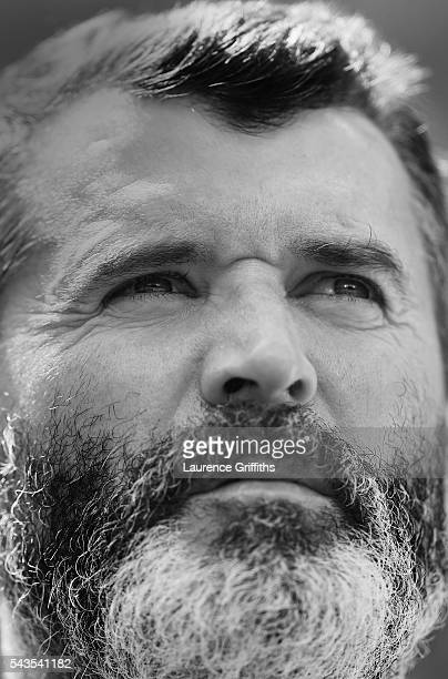 Roy Keane of Republic of Ireland looks on during the UEFA Euro 2016 match between France and Republic of Ireland at Stade des Lumieres on June 26,...
