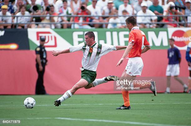 Roy Keane plays for Ireland in their round of sixteen match with the Netherlands in the 1994 World Cup The Netherlands win the match 20