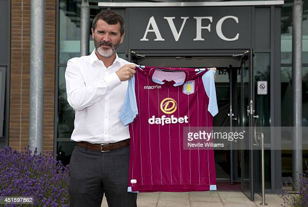 Roy Keane the new assistant manager of Aston Villa poses for a picture at the club's training ground at Bodymoor Heath on July 02 2014 in Birmingham...
