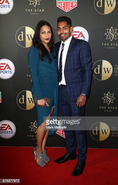Roy Krishna and Naziah Ali arrive ahead of the FFA Dolan Warren Awards at The Star on May 1 2017 in Sydney Australia
