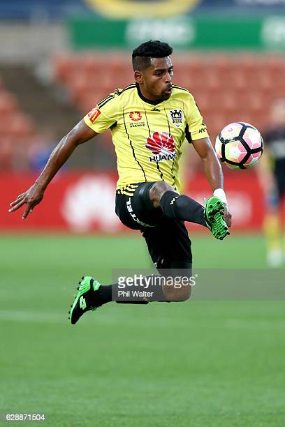Roy Krishna of Wellington takes a pass during the round 10 ALeague match between the Wellington Phoenix and the Central Coast Mariners at FMG Stadium...