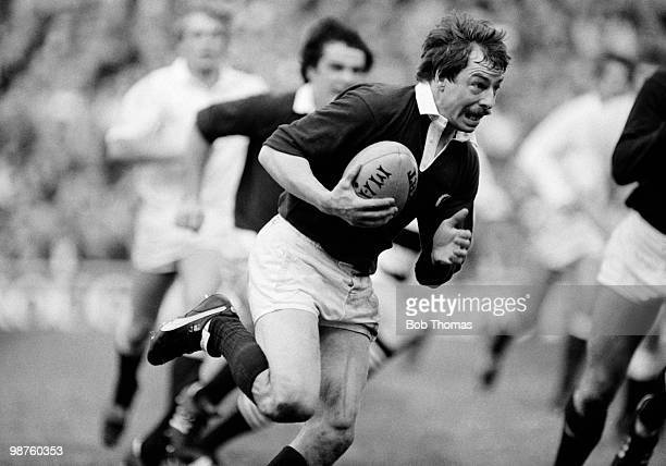 Roy Laidlaw of Scotland in action against England during the Rugby Union International Calcutta Cup match held at Twickenham London on 5th March 1983...