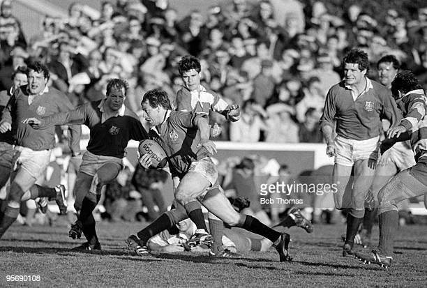 Roy Laidlaw of the British Lions in action against West Coast during the British Lions Rugby Tour of New Zealand match held in Greymouth on 8th June...