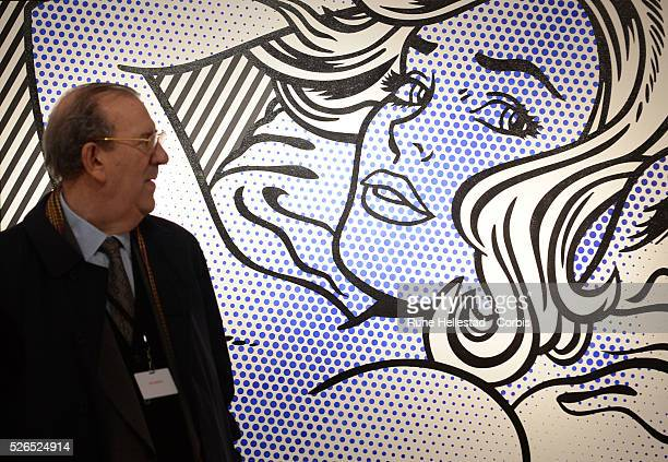 A Roy Lichtenstein artwork is displayed at Christie's 'Impressionist Contemporary and Modern' art preview at their King Street Branch