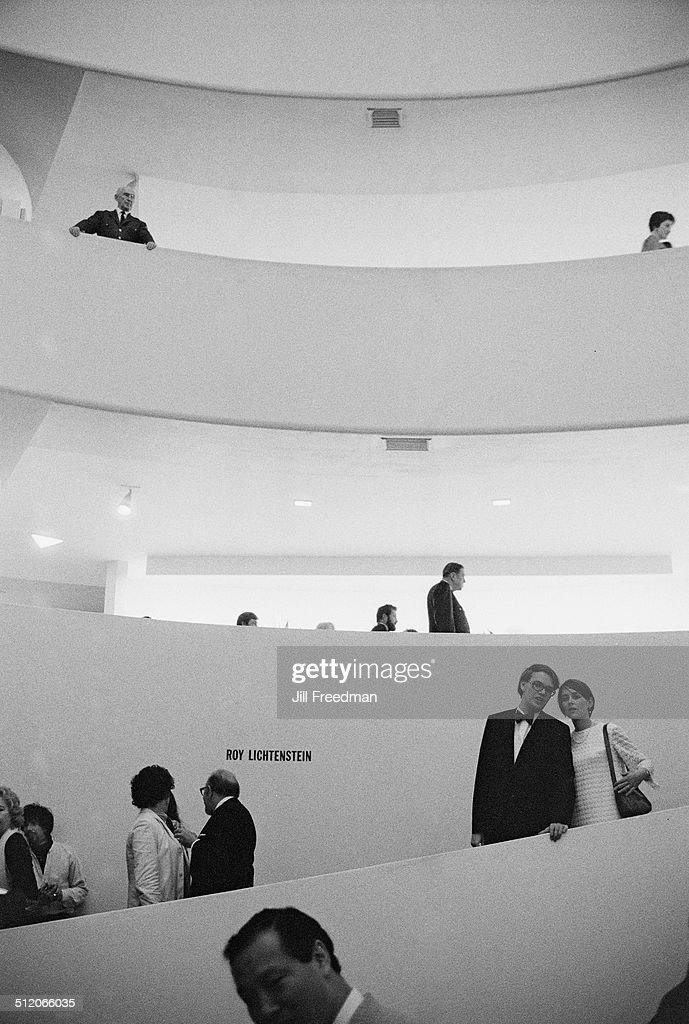 A Roy Lichtenstein exhibition at the Solomon R. Guggenheim Museum in New York City, 1969.