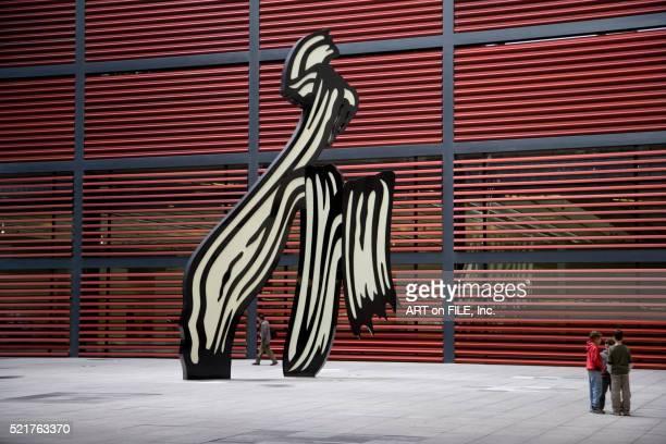 Roy Lichtenstein Sculpture in Courtyard of Museo Nacional Centro de Arte Reina Sofia