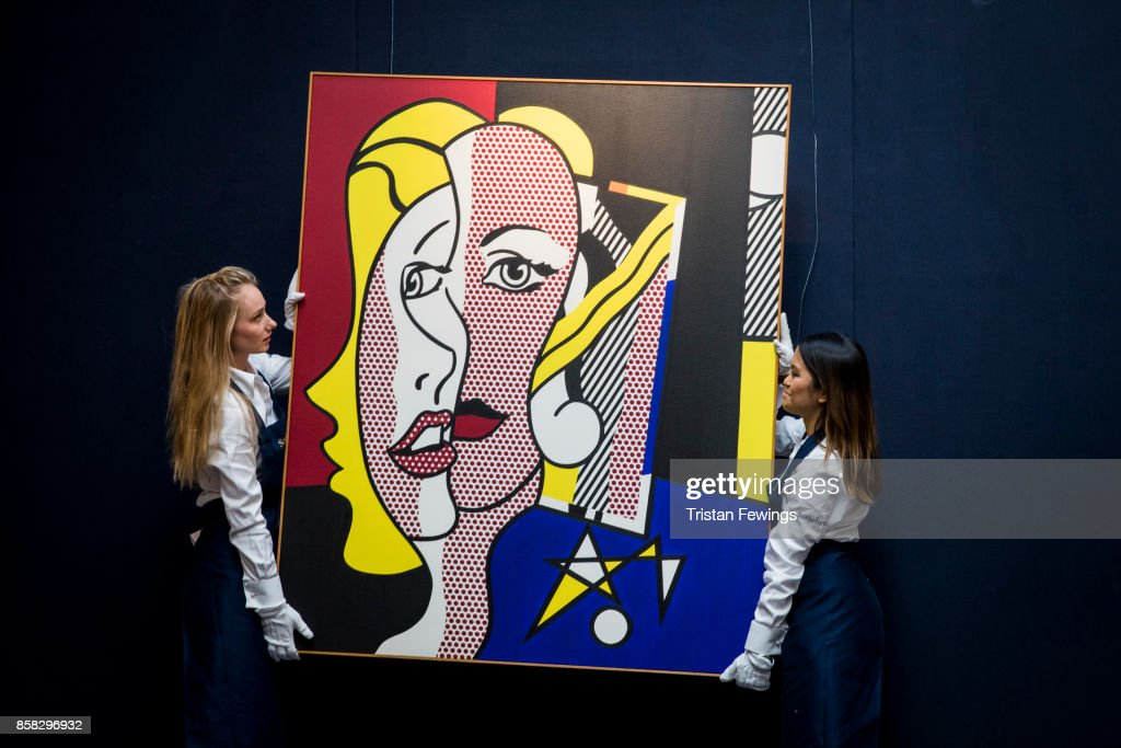 Roy Lichtenstein's Female Head (Estimate $10-15 million) goes on view as part of Sotheby's Contemporary Impressionist New York TRAVEX highlights preview at Sotheby's on October 6, 2017 in London, England. The Contemporary Art Evening Auction takes place at Sothebys New York on 16th November 2017.