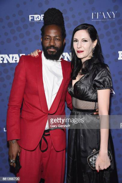 Roy Luwolt and Jill Kargman attend the 31st FN Achievement Awards at IAC Headquarters on November 28 2017 in New York City