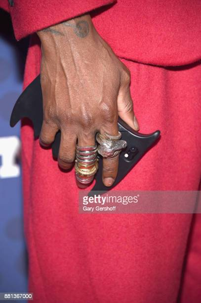 Roy Luwolt ring detail attends the 31st FN Achievement Awards at IAC Headquarters on November 28 2017 in New York City