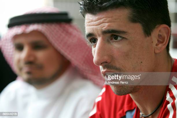 Roy Maakay during a press conference at the club's training camp on January 9 2006 in Dubai United Arab Emirates