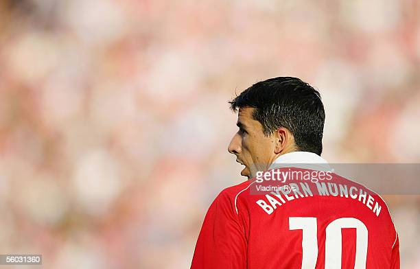 Roy Makaay of Bayern looks on during the Bundesliga match between 1FC Cologne and Bayern Munich at the Rhein Energie Stadium on October 29 2005 in...