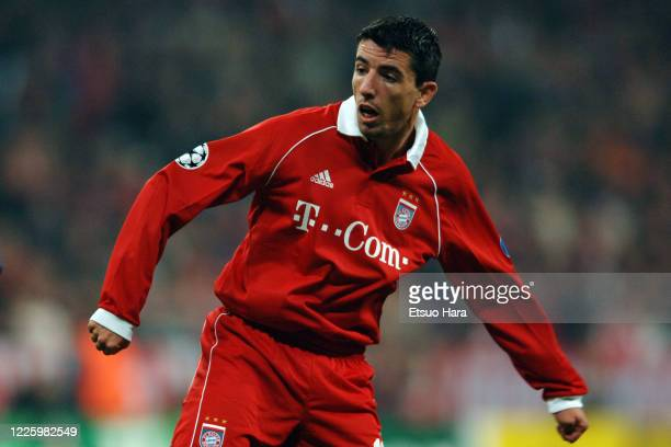 Roy Makaay of Bayern Munich in action during the UEFA Champions League Group A match between Bayern Munich and Juventus at the Allianz Arena on...
