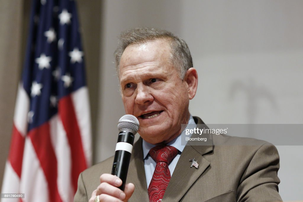 Alabama Republican Senate Candidate Roy Moore Holds Election Night Party : News Photo