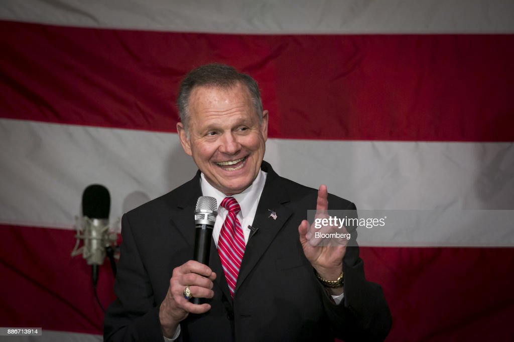 Candidate For U.S. Senate Roy Moore Holds Campaign Rally With Steve Bannon