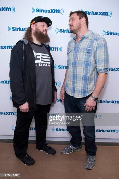 Roy Nelson and Matt Mitrione visit at SiriusXM Studios on February 12 2018 in New York City