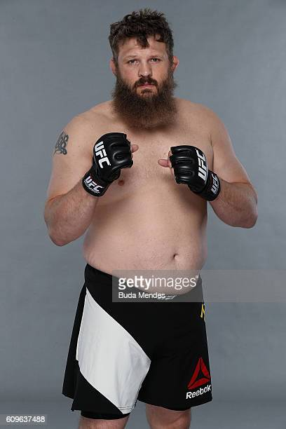 Roy Nelson of the United States poses for a portrait during a UFC photo session on September 21 2016 in Brasilia Brazil