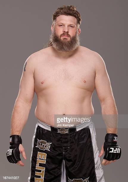 Roy Nelson poses for a portrait on April 24 2013 in Jersey City New Jersey