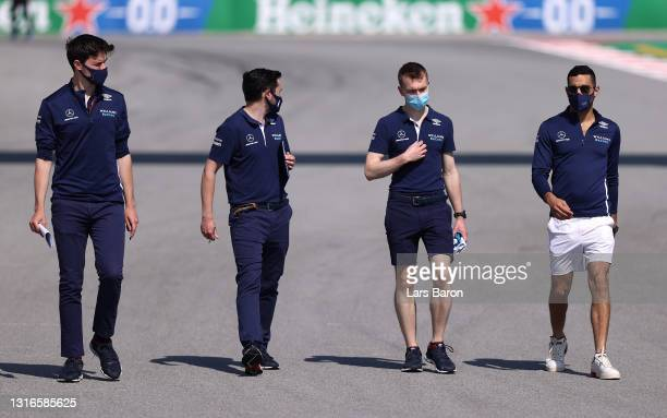 Roy Nissany of Israel and Williams walks the track during previews ahead of the F1 Grand Prix of Spain at Circuit de Barcelona-Catalunya on May 06,...