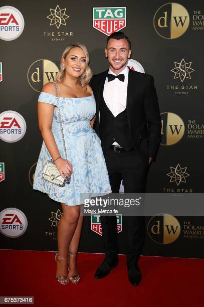 Roy O'Donavon and Ellen O'Donavon arrive ahead of the FFA Dolan Warren Awards at The Star on May 1 2017 in Sydney Australia