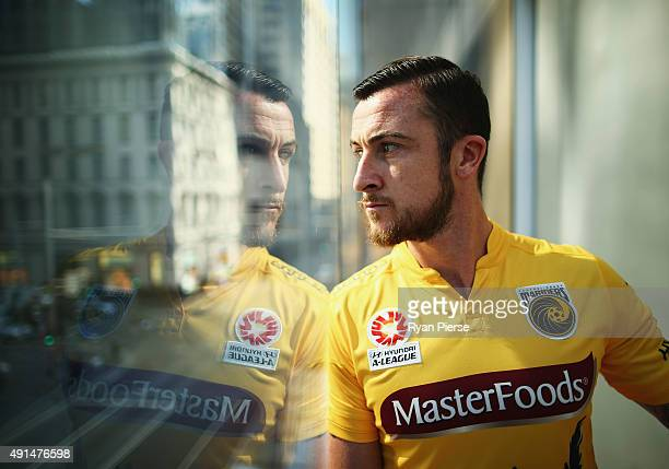 Roy O'Donovan of Central Coast Mariners poses during the 2015/16 ALeague season launch at the Telstra Customer Insight Centre on October 6 2015 in...