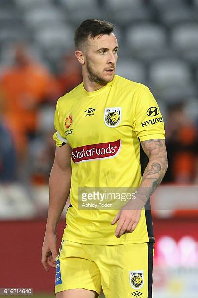 Roy O'Donovan of the Mariners during the round three ALeague match between the Central Coast Mariners and the Brisbane Roar at Central Coast Stadium...