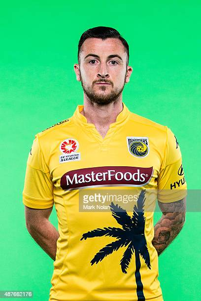 Roy O'Donovan poses during the Central Coast Mariners 2015/16 ALeague headshots session at Fox Sports Studios on September 11 2015 in Sydney Australia